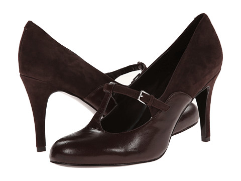 Nine West - Larva (Dark Brown/Dark Brown Suede) High Heels