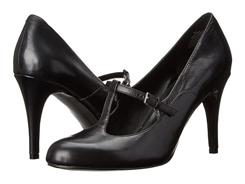 Nine West - Larva (Black Leather) High Heels