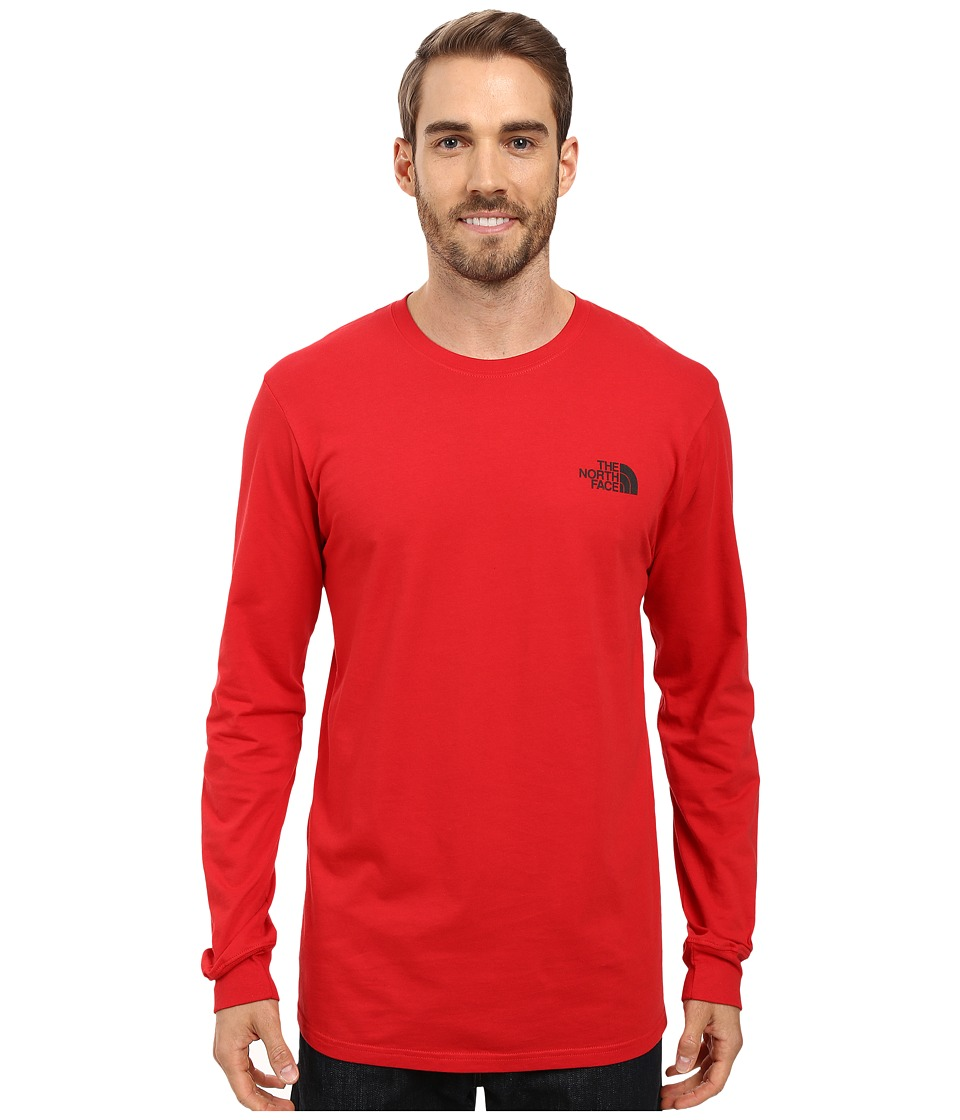The North Face - Long Sleeve Red Box Tee (TNF Red/Asphalt Grey) Men's Long Sleeve Pullover