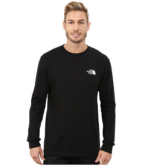 The North Face - Long Sleeve Red Box Tee (TNF Black/TNF White) Men's Long Sleeve Pullover