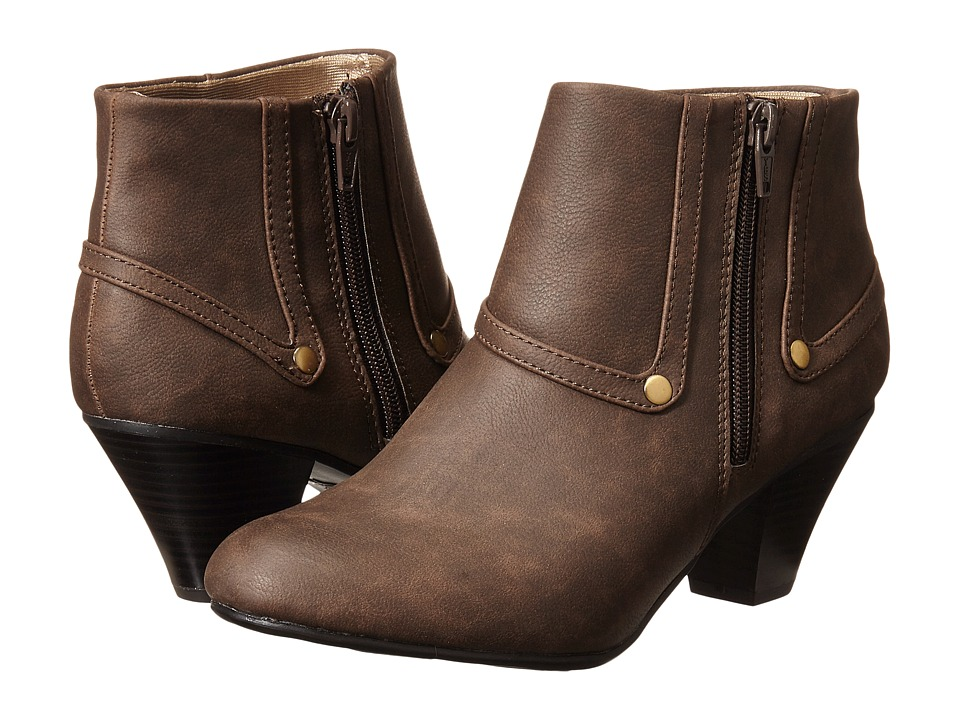 LifeStride - Genuine (Dark Brown) Women's Zip Boots