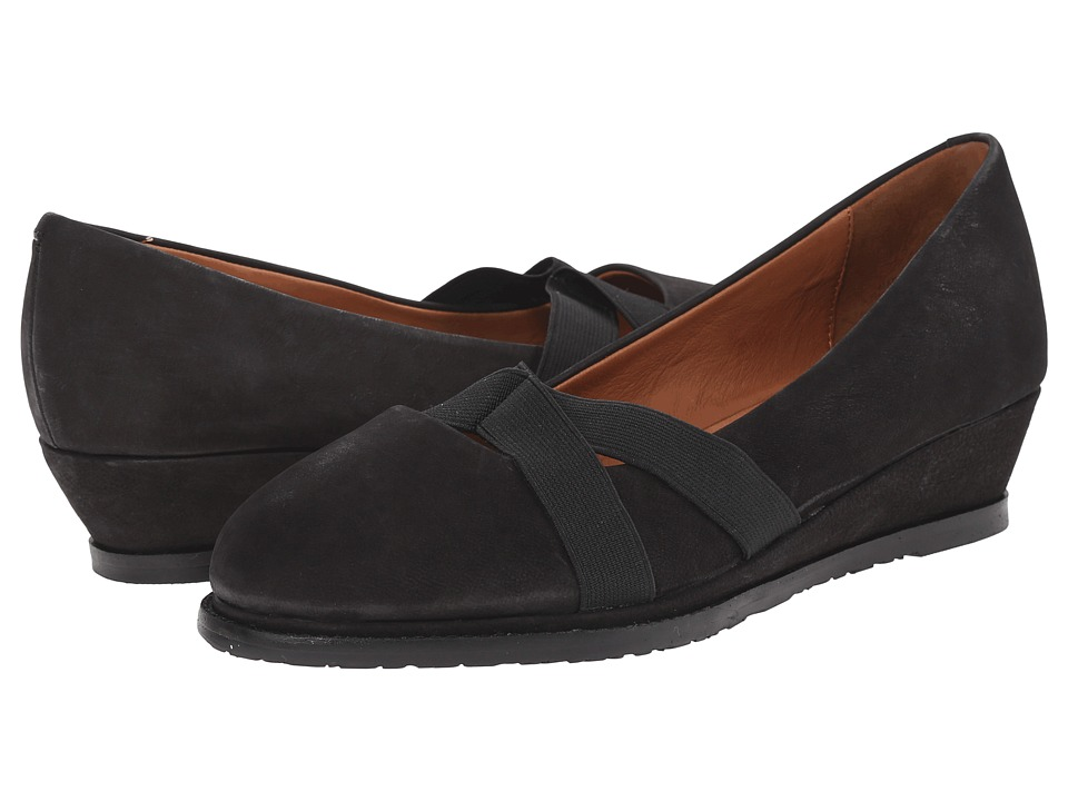 Gentle Souls - Newman (Black Nubuck) Women's Flat Shoes