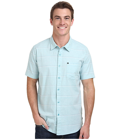 Rip Curl - EL Tigre Short Sleeve Shirt (Aqua) Men's Clothing