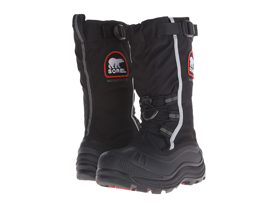SOREL - Alpha Pac II (Black/Red Quartz) Women's Cold Weather Boots