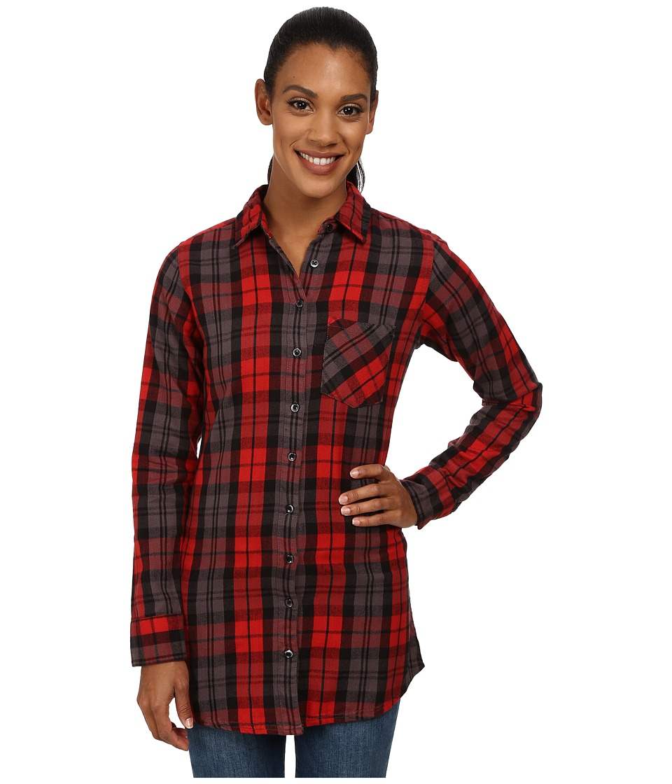 Mountain Khakis - Penny Plaid Tunic Shirt (Engine Red) Women's Blouse