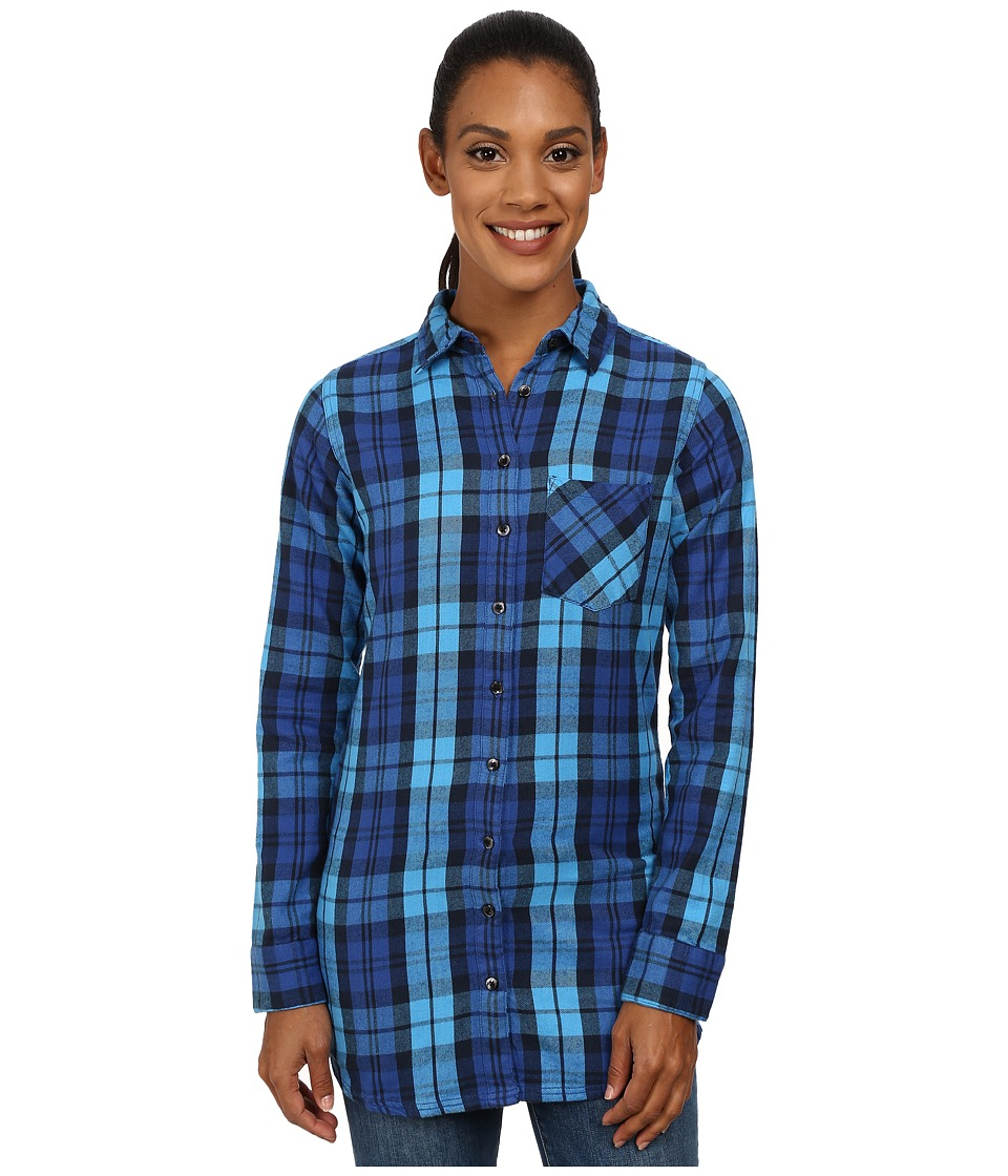 Mountain Khakis - Penny Plaid Tunic Shirt (Arctic) Women's Blouse