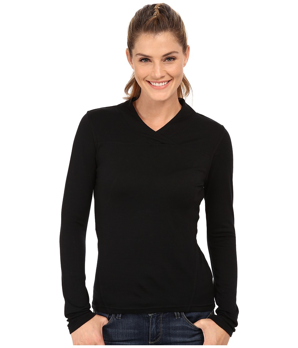 Mountain Khakis - Rendezvous Micro Wrap Neck Shirt (Black) Women's Sweater