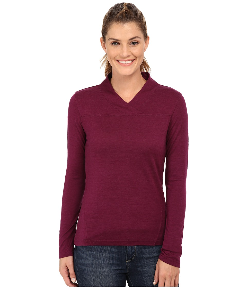 Mountain Khakis Rendezvous Micro Wrap Neck Shirt (Hollyhock) Women