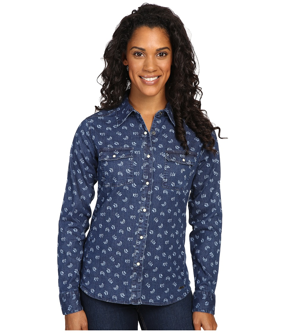 Mountain Khakis - Annie Stretch Denim Shirt (Floral Print) Women's Clothing