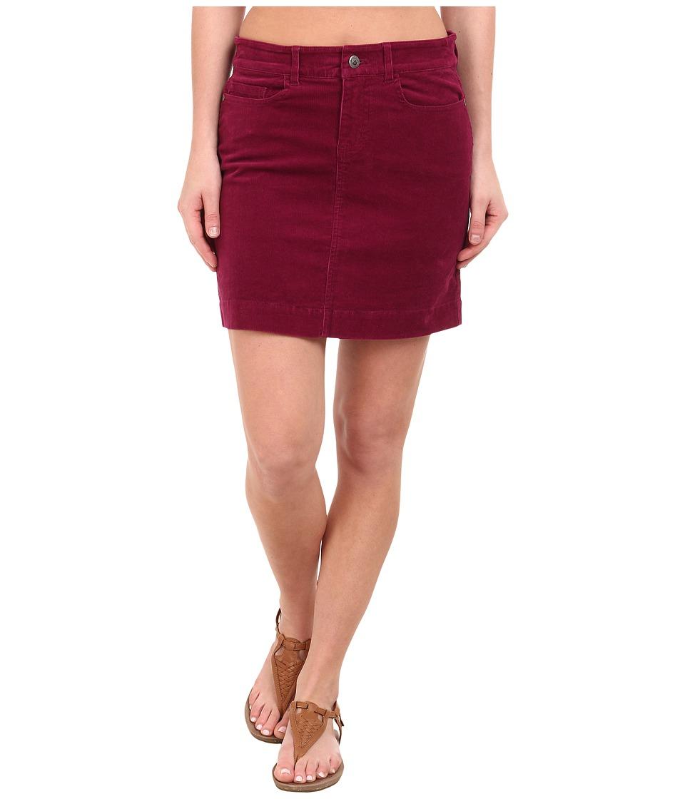 Mountain Khakis Canyon Cord Skirt (Hollyhock) Women