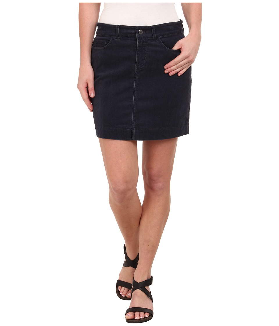 Mountain Khakis Canyon Cord Skirt (Navy) Women
