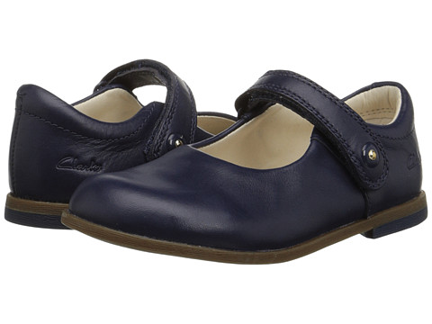 Clarks Kids - Bonnie Boo (Toddler) (Navy) Girls Shoes