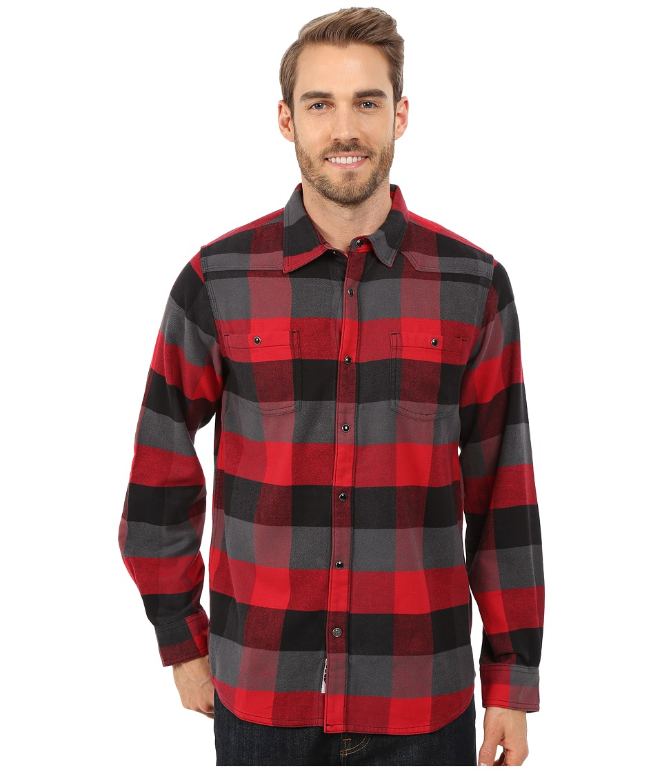 Mountain Khakis - Saloon Flannel Shirt (Engine Red) Men