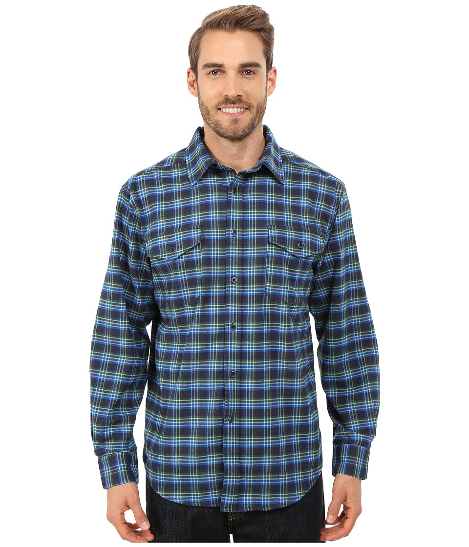 Mountain Khakis - Peaks Flannel Shirt (Midnight Blue) Men's Clothing