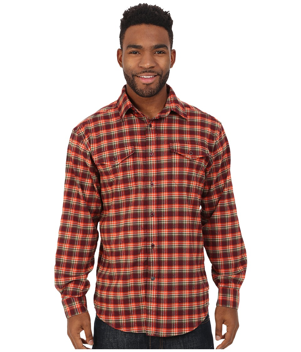 Mountain Khakis - Peaks Flannel Shirt (Plum) Men's Clothing
