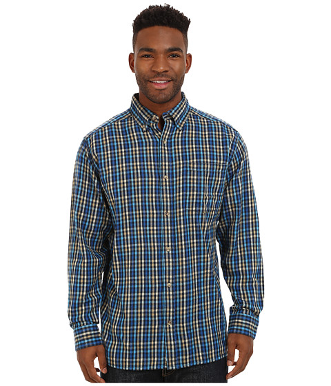 Mountain Khakis - Downtown Flannel Shirt (Midnight Blue) Men