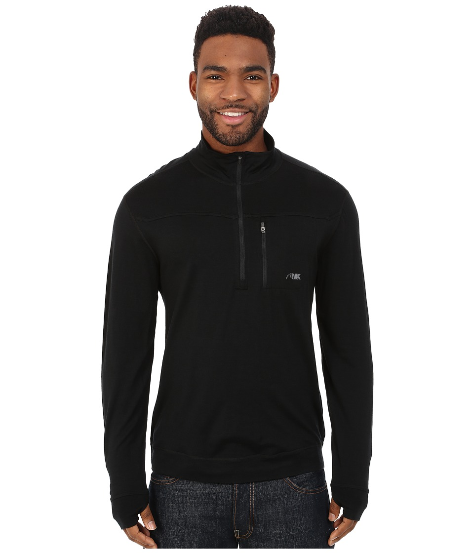 Mountain Khakis - Rendezvous Micro Qtr Zip Shirt (Black) Men's Clothing