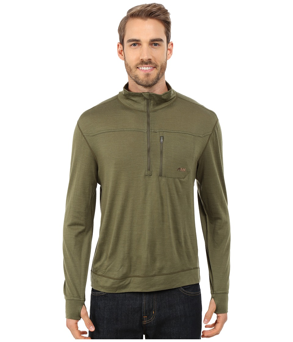 Mountain Khakis - Rendezvous Micro Qtr Zip Shirt (Field Green) Men's Clothing