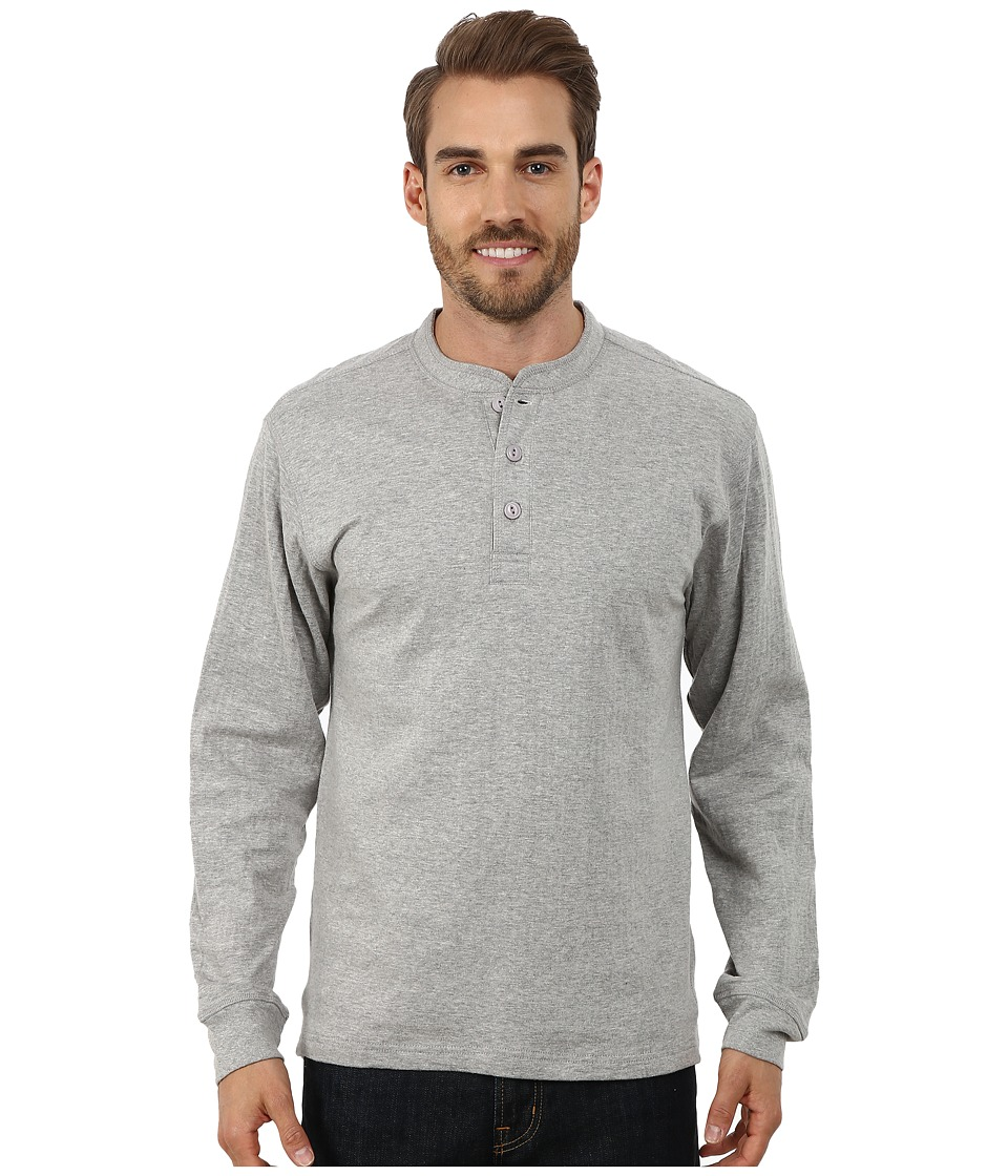 Mountain Khakis - Trapper Henley Shirt (Heather Grey) Men's Long Sleeve Pullover