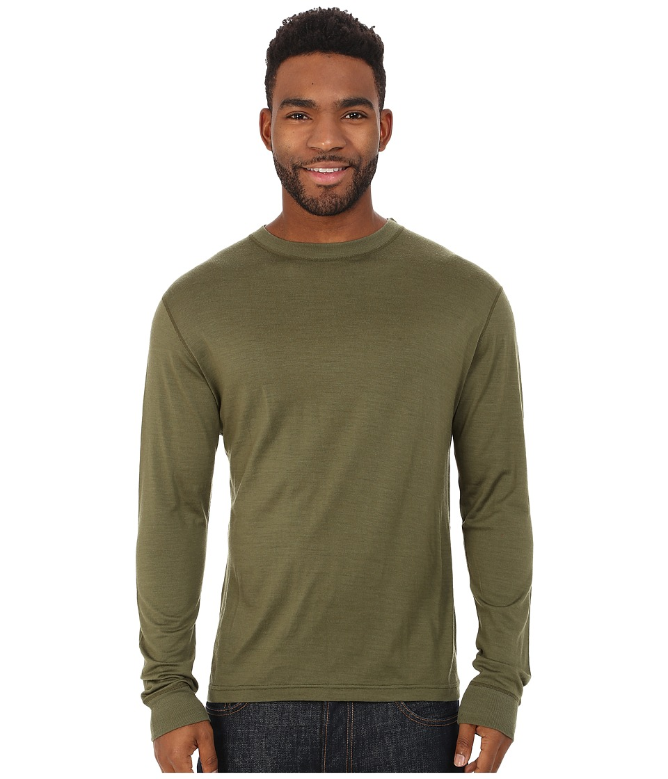 Mountain Khakis - Rendezvous Micro Crew Shirt (Field Green) Men's Clothing