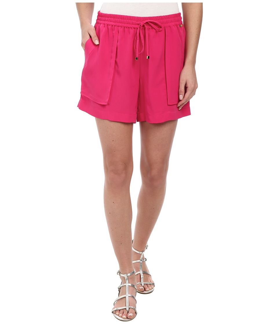 Calvin Klein - Soft Woven Shorts w/ Pocket (Hibiscus) Women