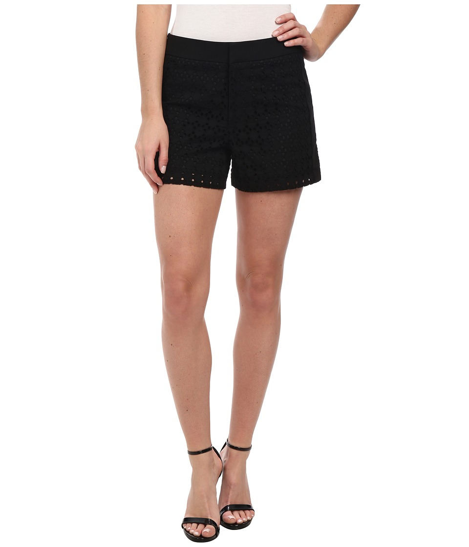Calvin Klein - Geo Eyelet Shorts (Black) Women