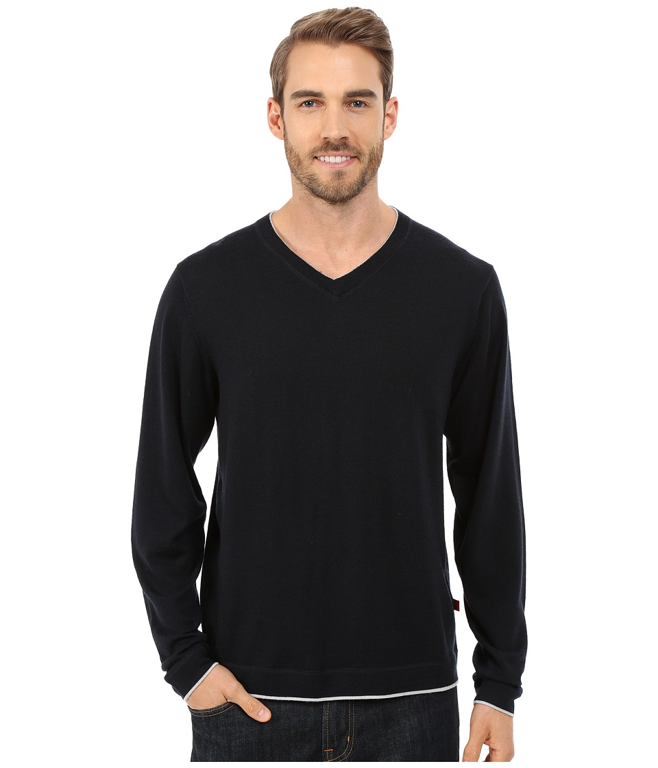Mountain Khakis - Cascade Merino V-Neck Sweater (Black) Men