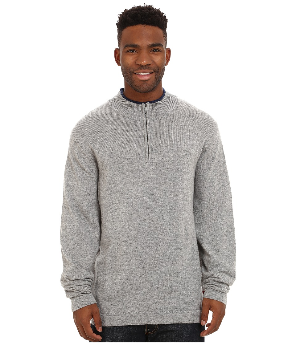 Mountain Khakis - Lodge Qtr Zip Sweater (Heather Grey) Men's Sweater