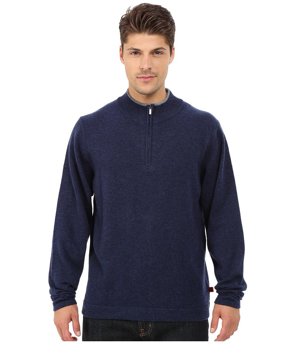 Mountain Khakis - Lodge Qtr Zip Sweater (Midnight) Men