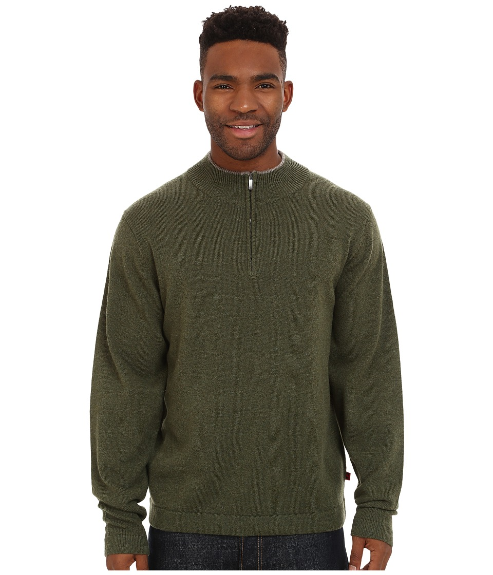 Mountain Khakis - Lodge Qtr Zip Sweater (Heather Grey) Men's Sweater