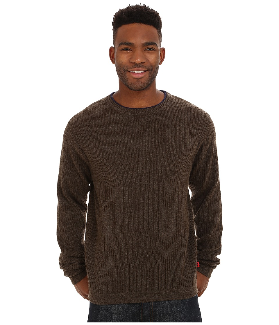 Mountain Khakis - Lodge Crew Neck Sweater (Coffee) Men's Sweater