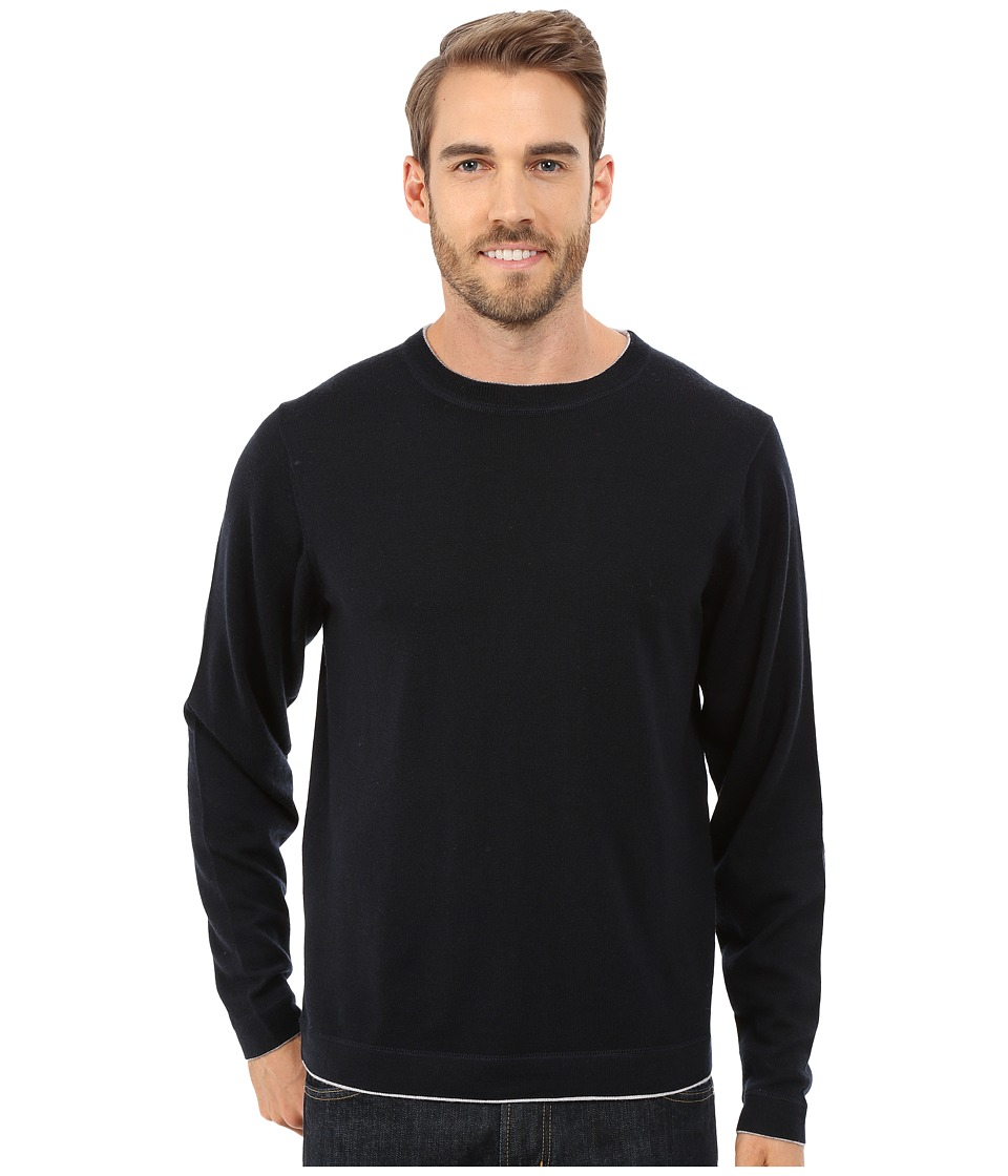 Mountain Khakis - Cascade Merino Crew Neck Sweater (Black) Men