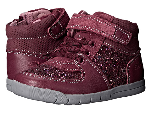 Clarks Kids - Crazy Snug (Toddler) (Berry) Girl