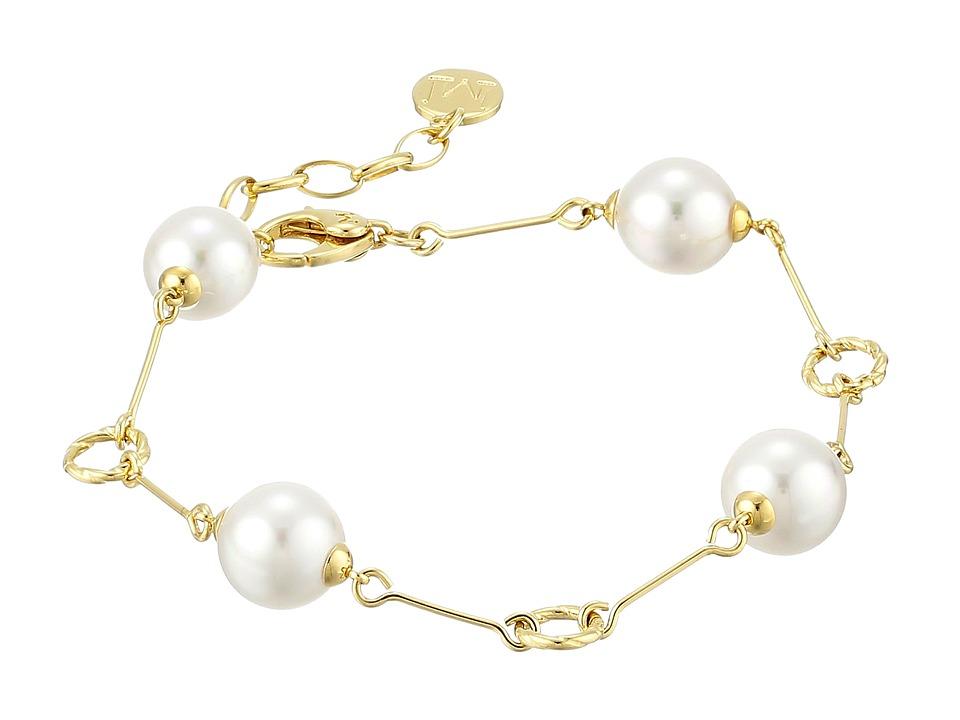 Majorica - Circle Link Bracelet (Gold/White) Bracelet