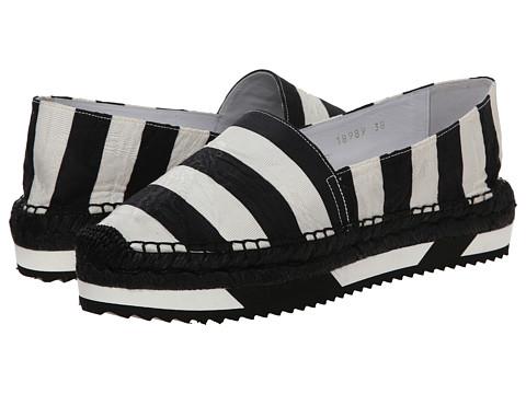 Dolce & Gabbana - C18989 (Black/White) Women's Flat Shoes
