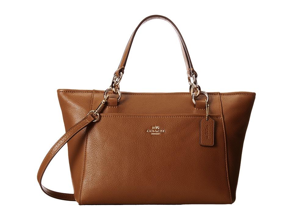 COACH - Chicago Mini Ellis Tote (LI/Saddle) Tote Handbags
