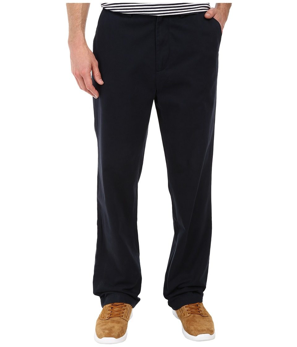 Nautica - Classic Flat Front Pants (True Navy) Men's Casual Pants