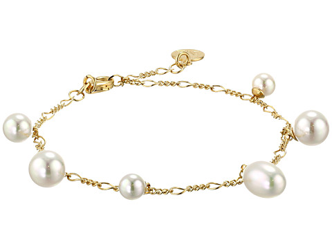 Majorica - Rain Pearl Drop Bracelet (Gold/White) Bracelet
