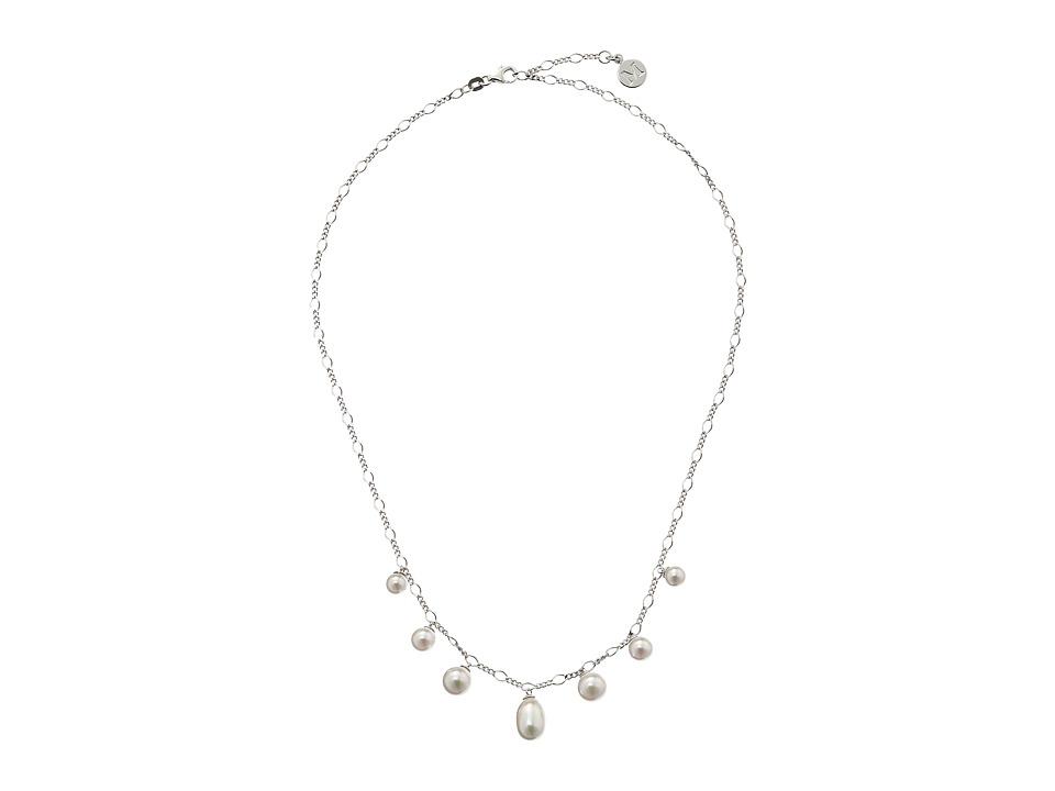 Majorica - Rain Pearl Drop Necklace (Silver/White) Necklace