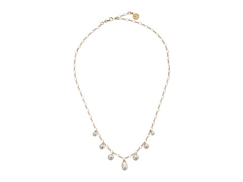 Majorica - Rain Pearl Drop Necklace (Gold/White) Necklace