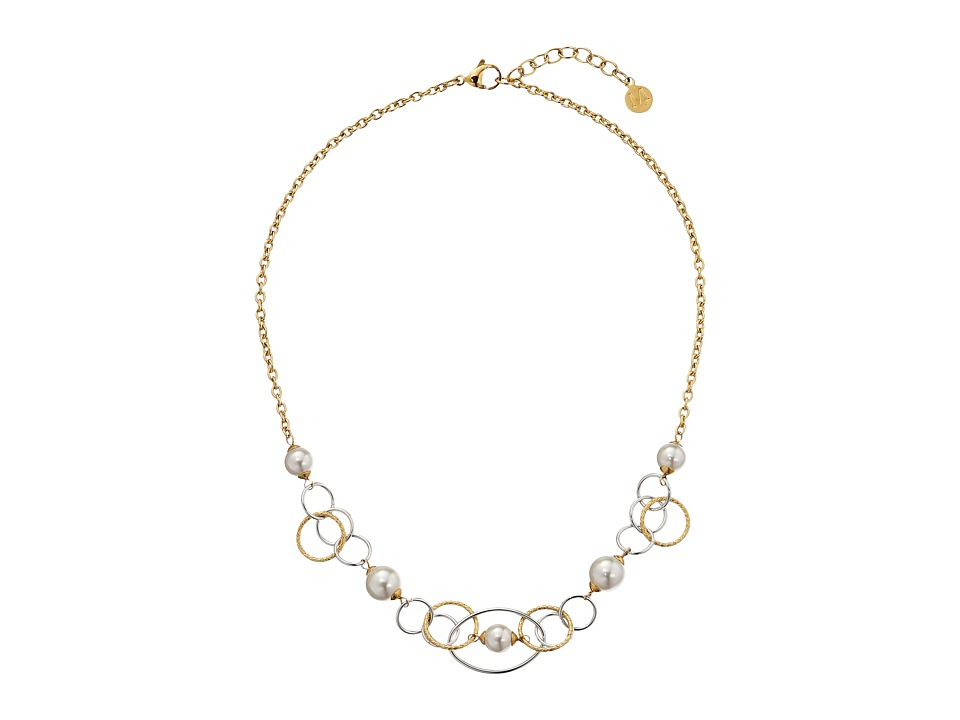 Majorica - Rain Link Necklace (Gold/White) Necklace