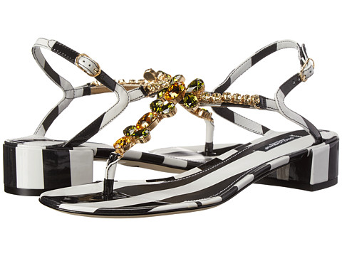 Dolce & Gabbana - C18921 (Black/White) Women's Sandals