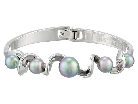 Majorica - Twisted Cuff Bracelet (Silver/Grey) Bracelet