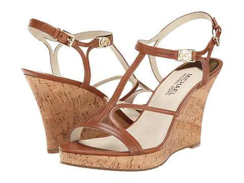MICHAEL Michael Kors - Cicely Wedge (Luggage Vachetta/Cork) Women's Wedge Shoes