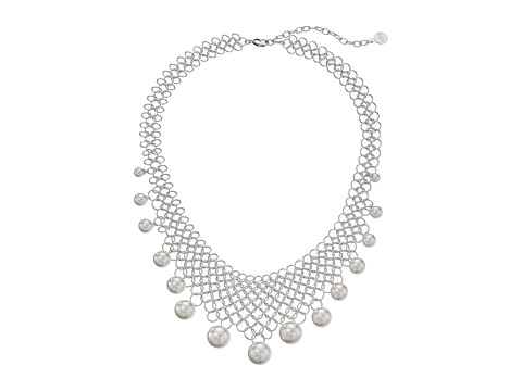 Majorica - Status Links Necklace (Silver/White) Necklace