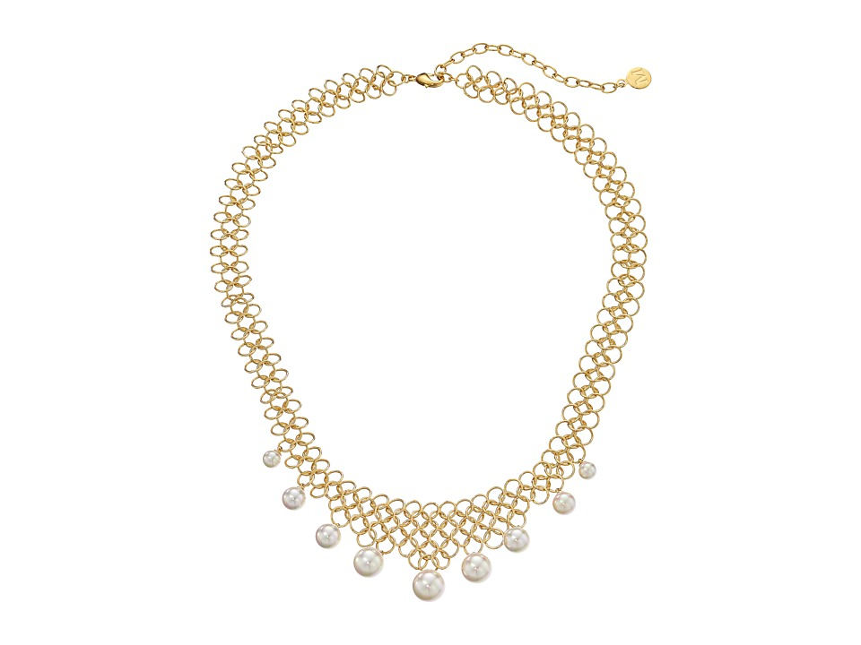 Majorica - Status Links Necklace (Gold/White) Necklace