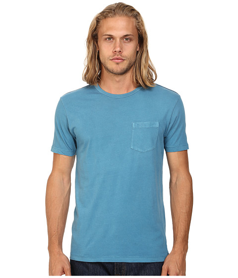 RVCA - PTC 2 Pigment Knit Tee (French Blue) Men's T Shirt