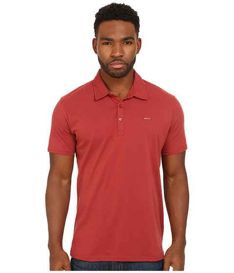 RVCA - Sure Thing Polo Shirt (Rosewood) Men's Short Sleeve Pullover