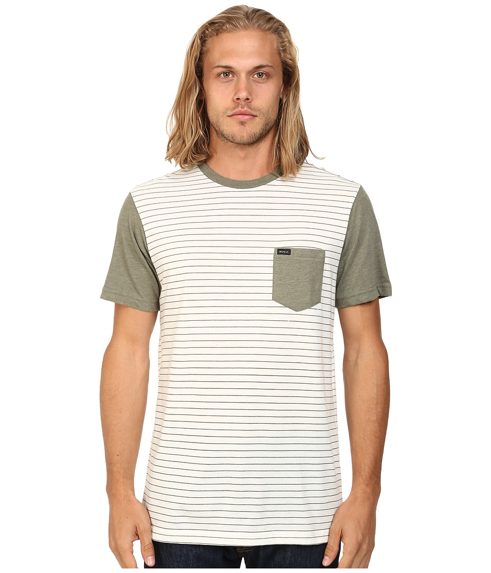 RVCA - Change Up Crew (Vintage White) Men's Short Sleeve Pullover