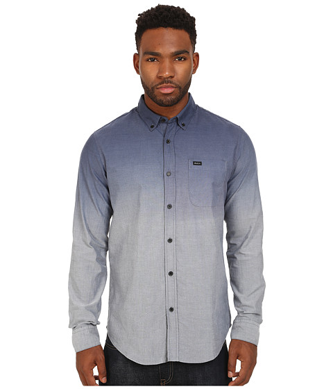 RVCA - That'll Do Dip Long Sleeve Shirt (Midnight) Men's Long Sleeve Button Up